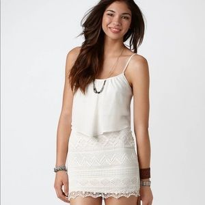American Eagle White Crochet Dress - size 4